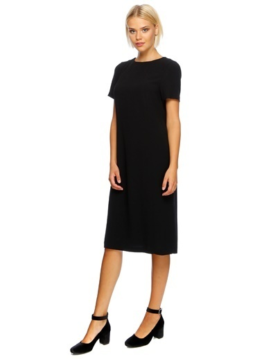 House Of Camellia Yarım Kollu Elbise Siyah